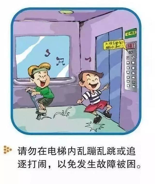危险!俩熊孩子电梯内嬉闹扒门被卡,这些乘梯安全事项父母须了解