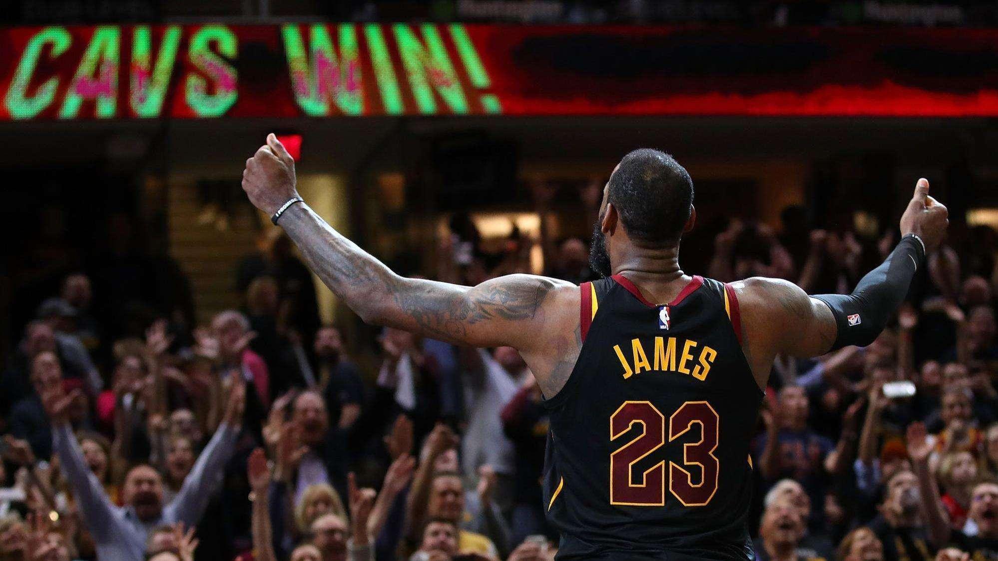 詹姆斯在2018年季后赛打出了生涯最为疯狂的表现
