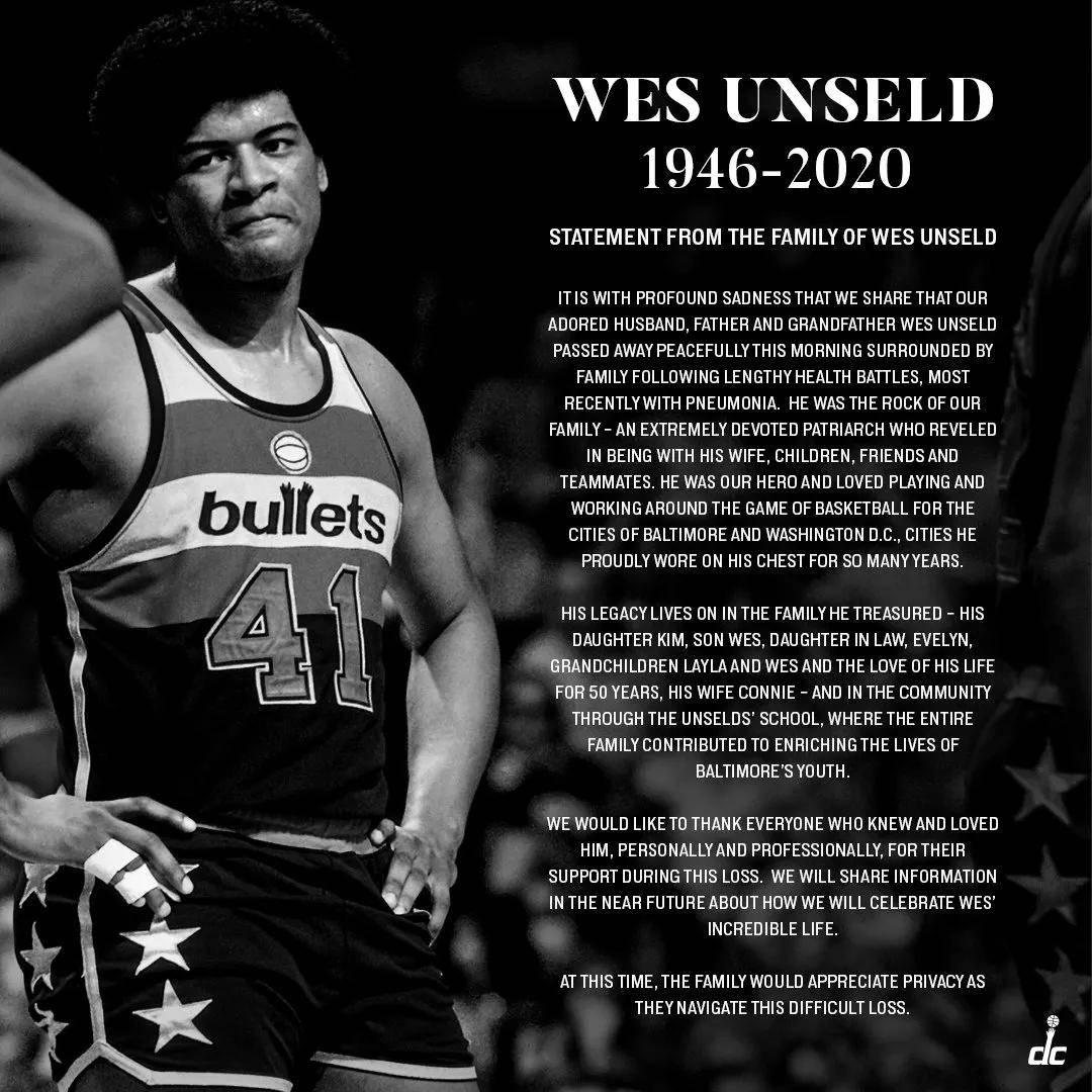 2020太难了!NBA又一篮球名宿去世!他可是队史第一人啊_昂塞尔德