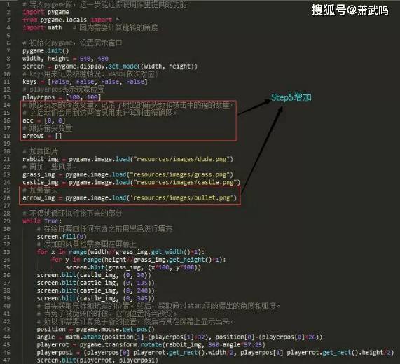 Python小游戏项目,兔子猎手教程,效果以及源码文件 第11张