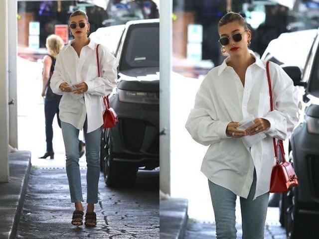 原创 小白鞋与白衬衫,天王嫂海莉鲍德温的夏季衣柜,三招拯救无聊单品