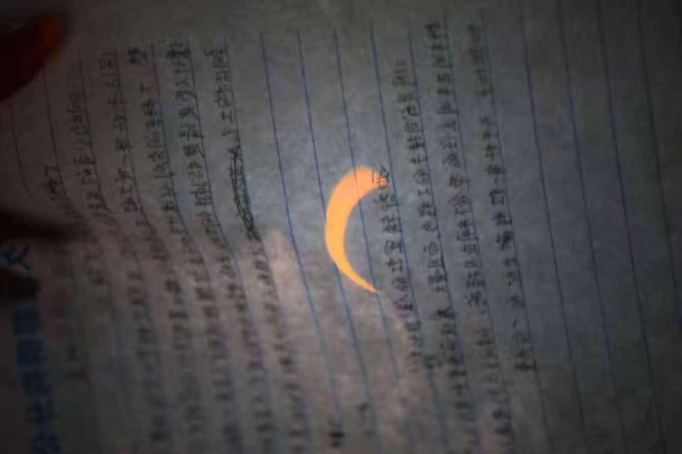蜡烛小孔成像真实照片