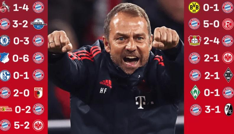 弗里克真香!拜仁各项赛事夺15连胜 创德甲新纪录