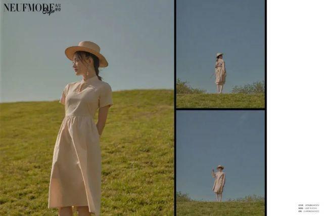 徐璐清新大片曝光,粉色吊带裙配俏皮丸子头,身材姣好少女感十足