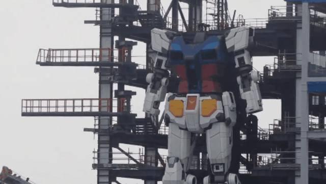 """日本1:1减缩""""高达""""机器人身高18米,重25吨"""