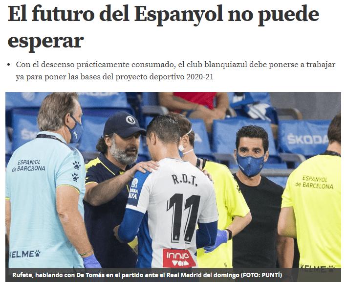 西班牙人球队5问题曝出!西媒提议尽快迎战德丙,武磊更快八月离开!