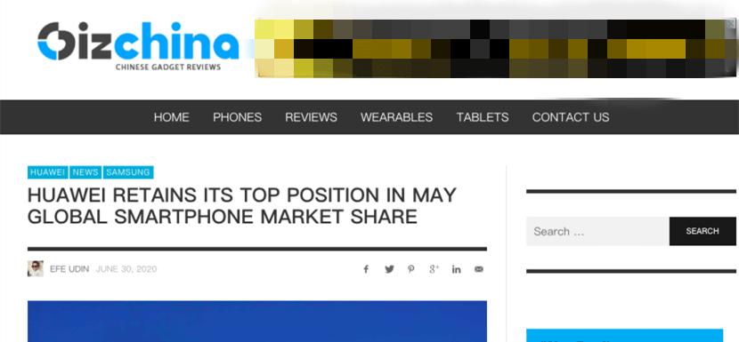 """华为手机在全球市场保持""""第一"""",下半年与三星的较量会更有看点"""