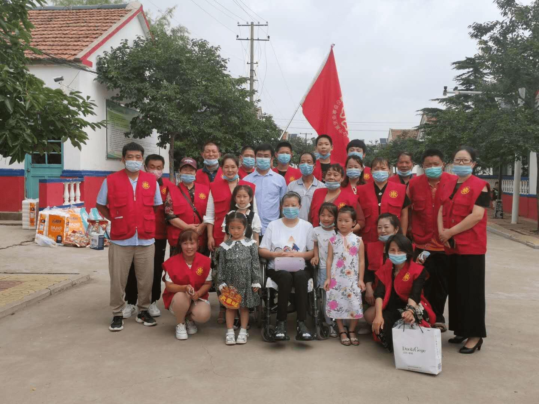 炎炎夏日莒县连翠公益携手红十字会关爱特殊儿童