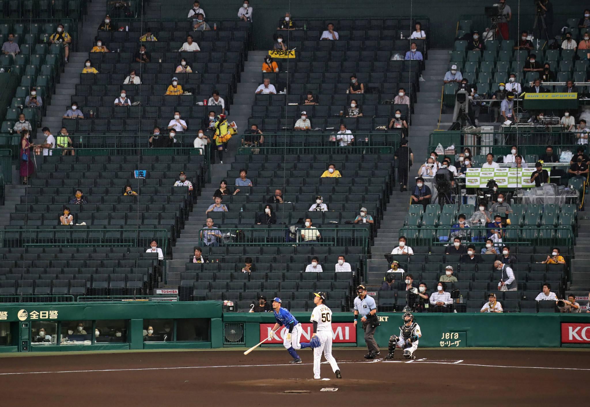 日本职棒联赛允许观众入场 下月上座率将突破50%