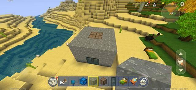 第一步:让我们用岩石建造一间小屋,然后在屋