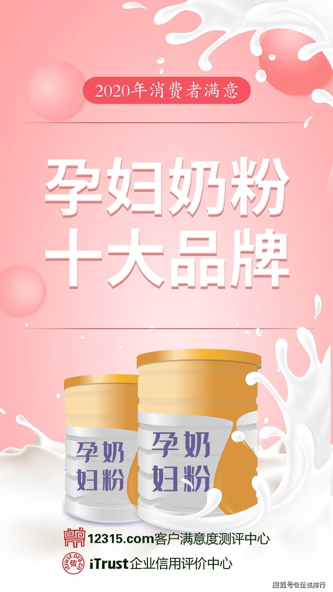 孕妇奶粉价格排行_至诚排行发布2020年消费者满意孕妇奶粉十大品牌