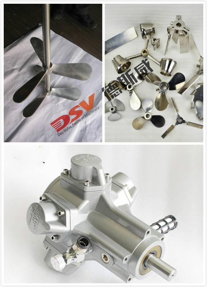 气动搅拌机的主要结构:气动马达、搅拌轴