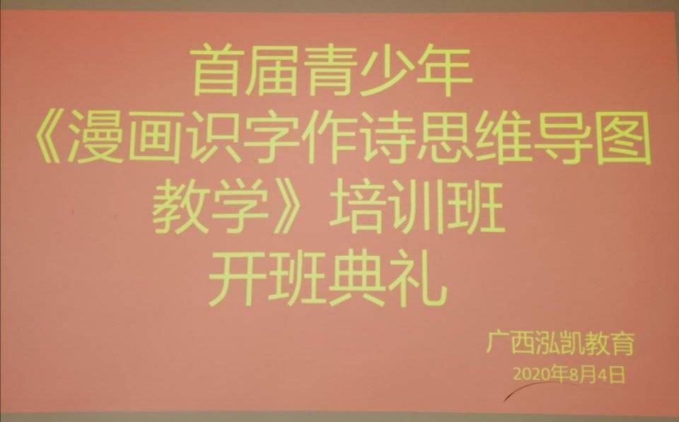"""广西泓凯教育首届青少年""""漫画识字作诗思维导图教学""""培训班开班了!"""