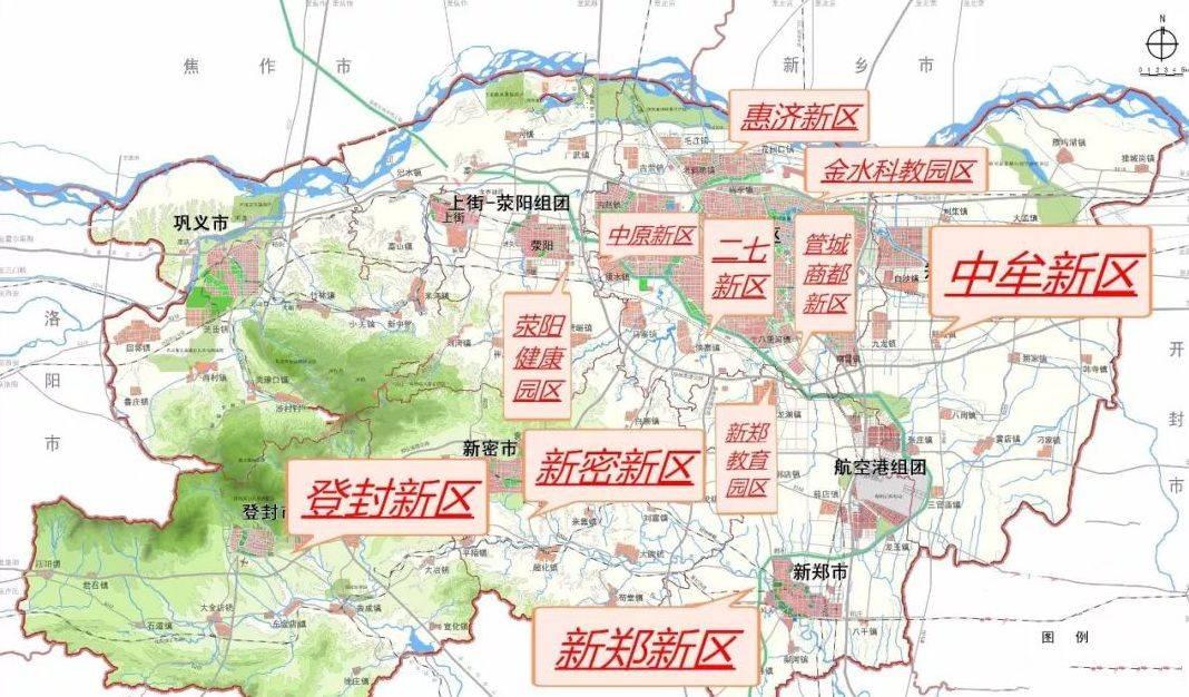 郑州各区gdp_郑州各区划分图