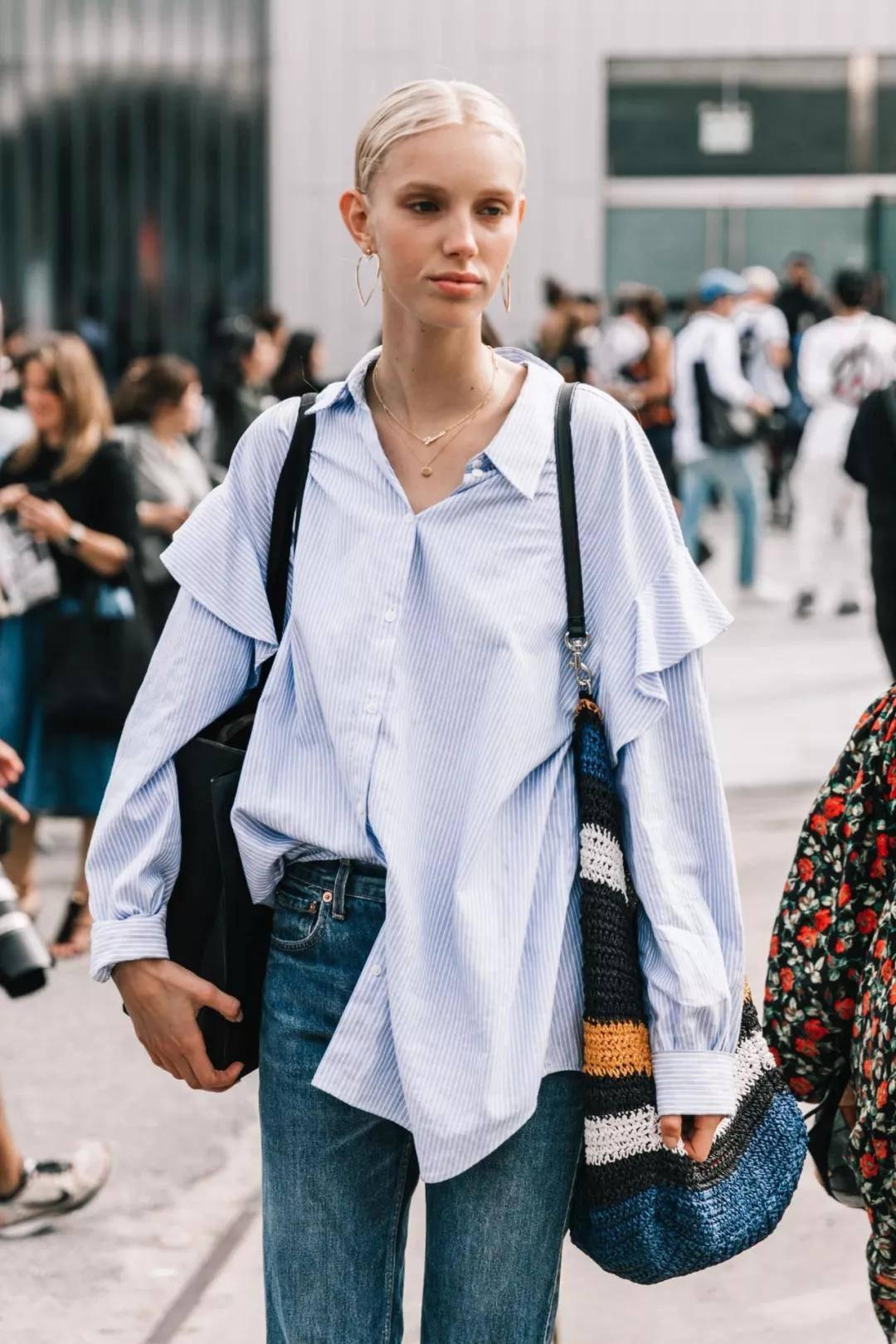 衬衫+九分裤=今秋最美显高穿搭!