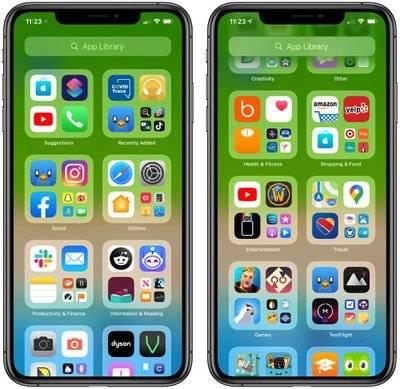 原创             iOS 14 Beta 7中的新增功能:黑暗模式彩虹壁纸,应用程序库调整