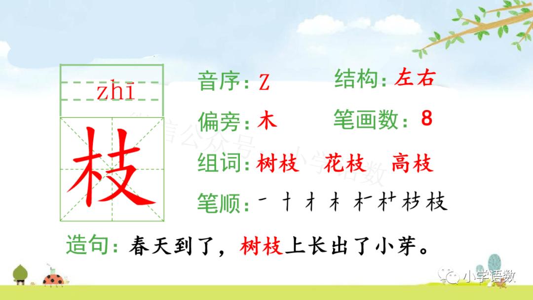 中文二年级(上)系版第一单元至第四单元