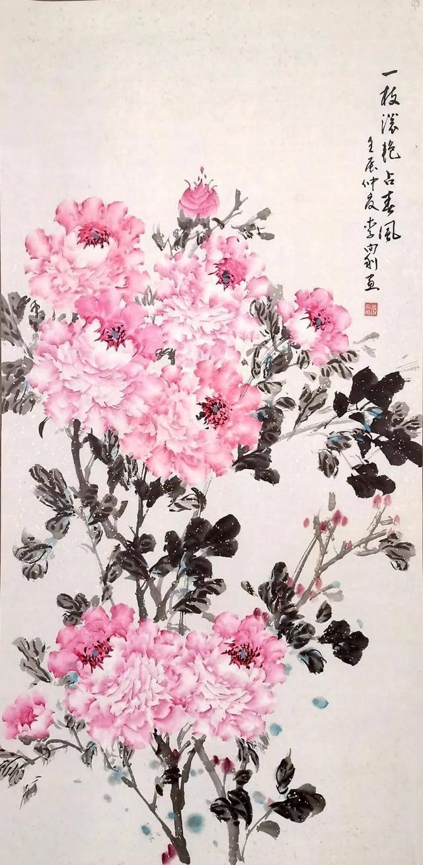 大地绽放--洛阳美术馆图书馆农民牡丹画