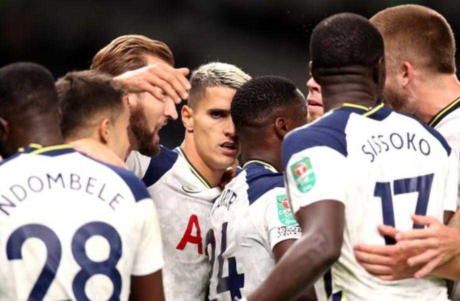 2020-2021赛季英格兰联赛杯1/8淘汰赛的一场