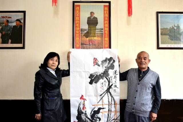 著名书画家韩书田、张朋才携手挥毫贺双