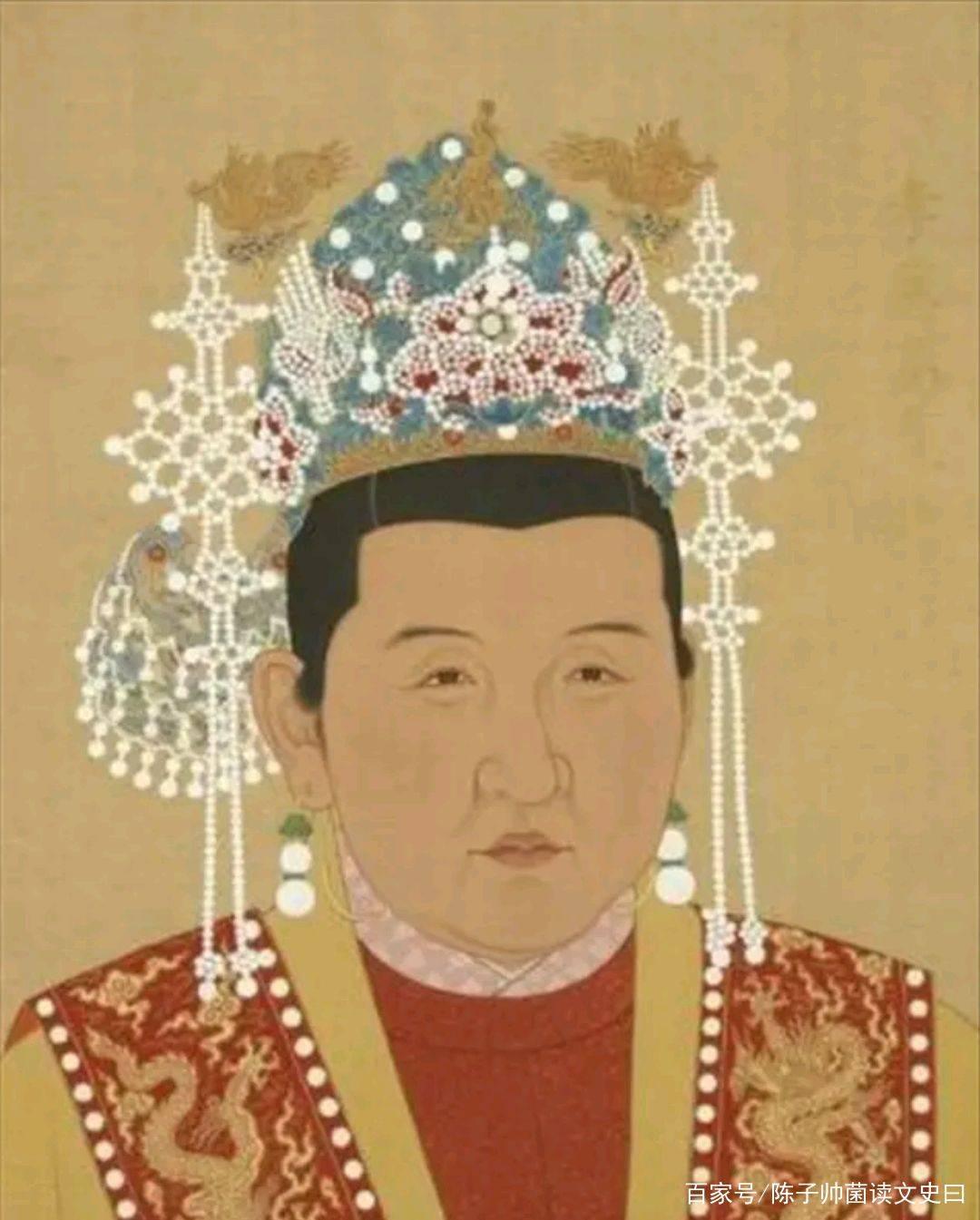 唐朝皇后服饰图片
