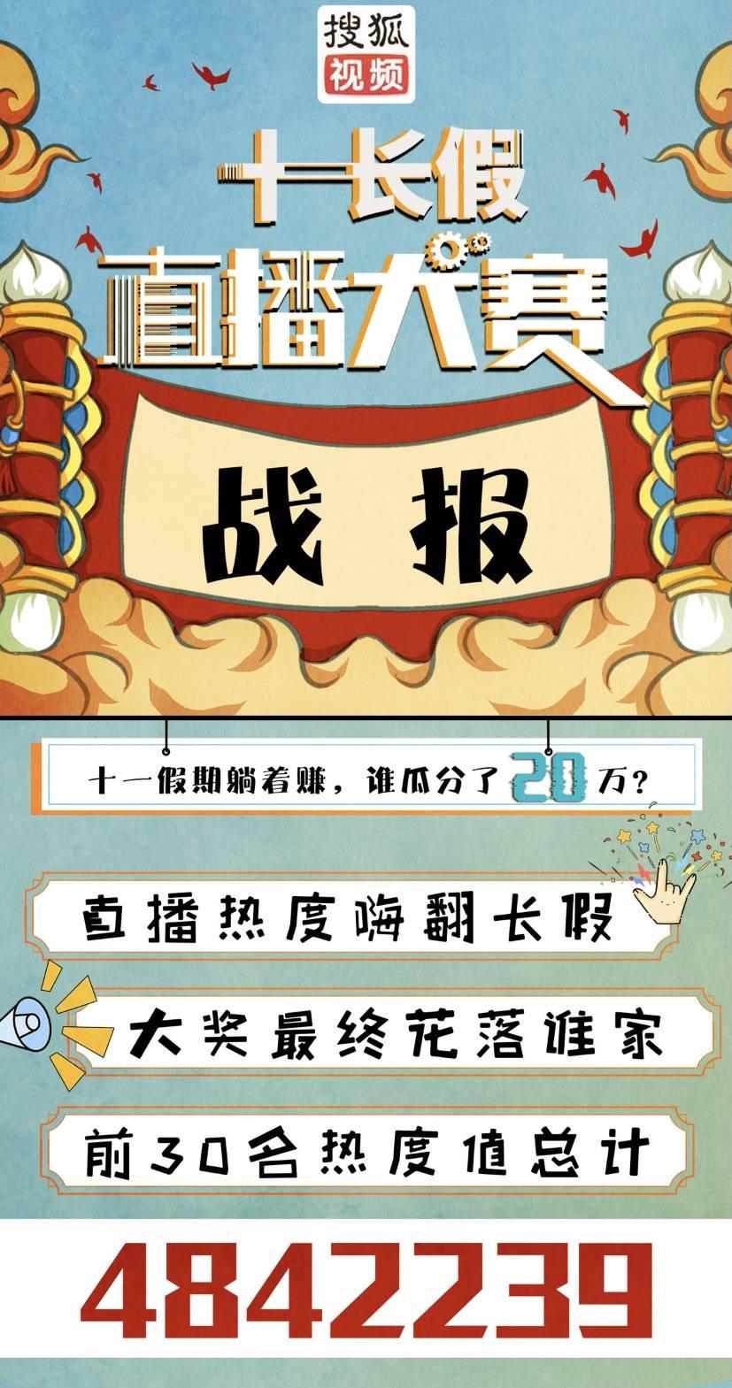 搜狐11长假直播大赛宣布全