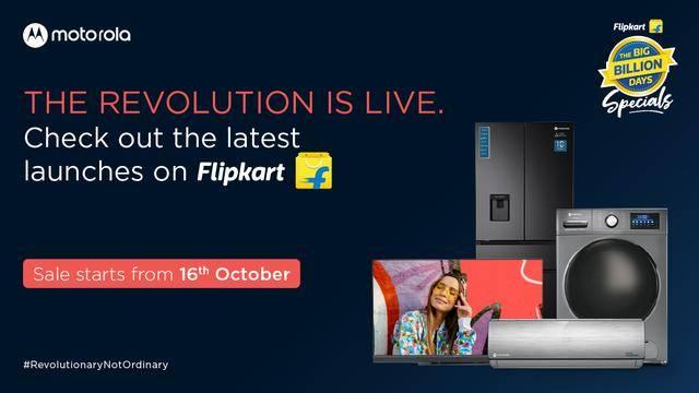 Flipkart在印度推出四款摩托罗拉智能电视!
