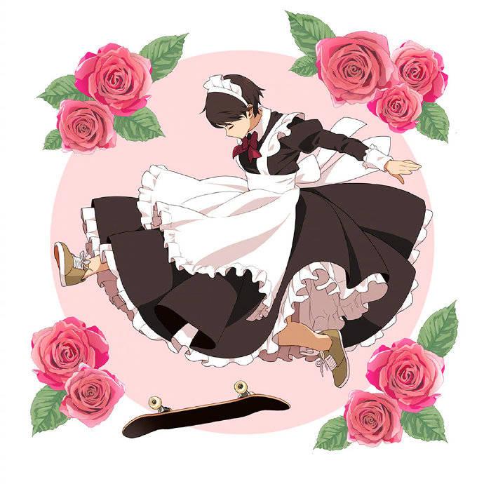 """日本画师脑洞大开,绘制滑板+女仆装,这就是传说中的""""帅萌""""吧"""