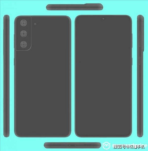 原创             三星Galaxy S21渲染图曝光:多配色+特别摄像头模组