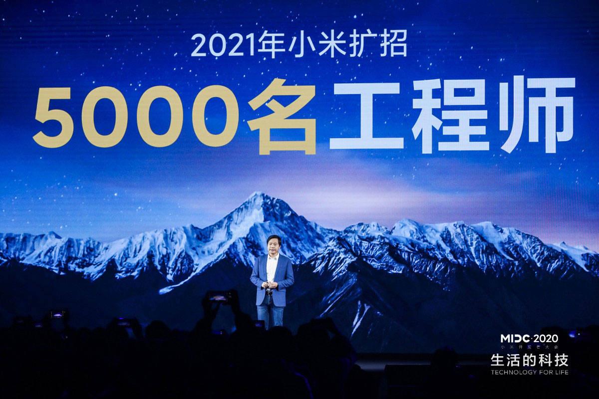 原创             雷军宣布扩招5000名工程师 伸缩式大光圈镜头技术首次曝光