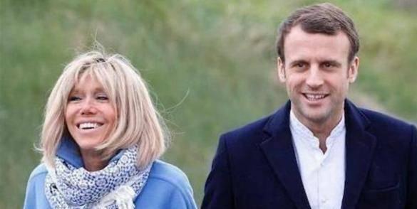 换发型如换脸!法国第一夫人盘起头穿上礼服,和马克龙同框太惊艳
