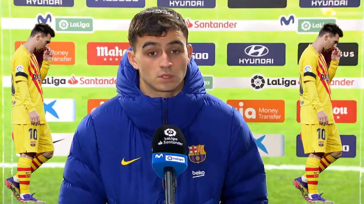 输给马竞后,巴塞罗那让17岁的佩德里代替梅西接受媒体采访