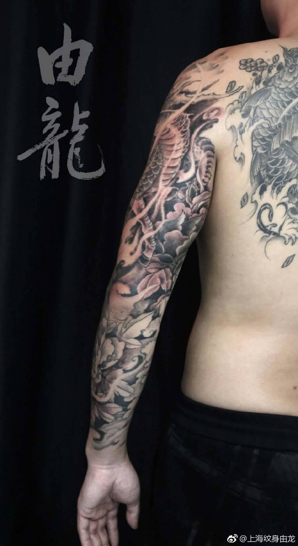 花臂纹身杨戬手稿