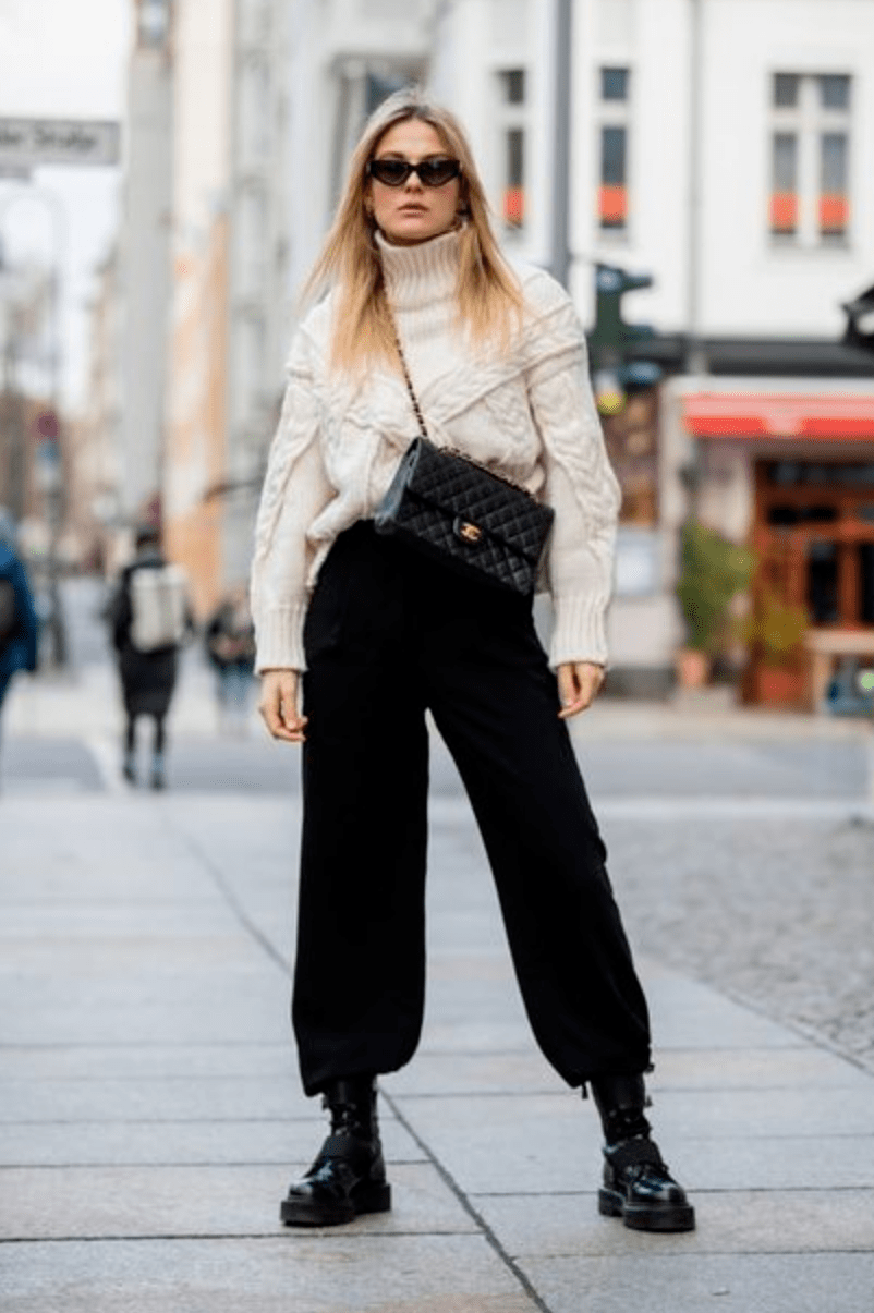 马丁靴+裙子,马丁靴+裤子……可甜可盐,时髦炸了!