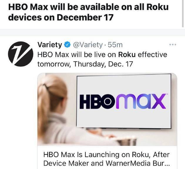太羡慕!美国观众电视机可直接看HBO MAX