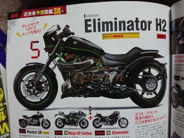 新车爆料:川崎H2巡航版新进展 名为Eliminator H2