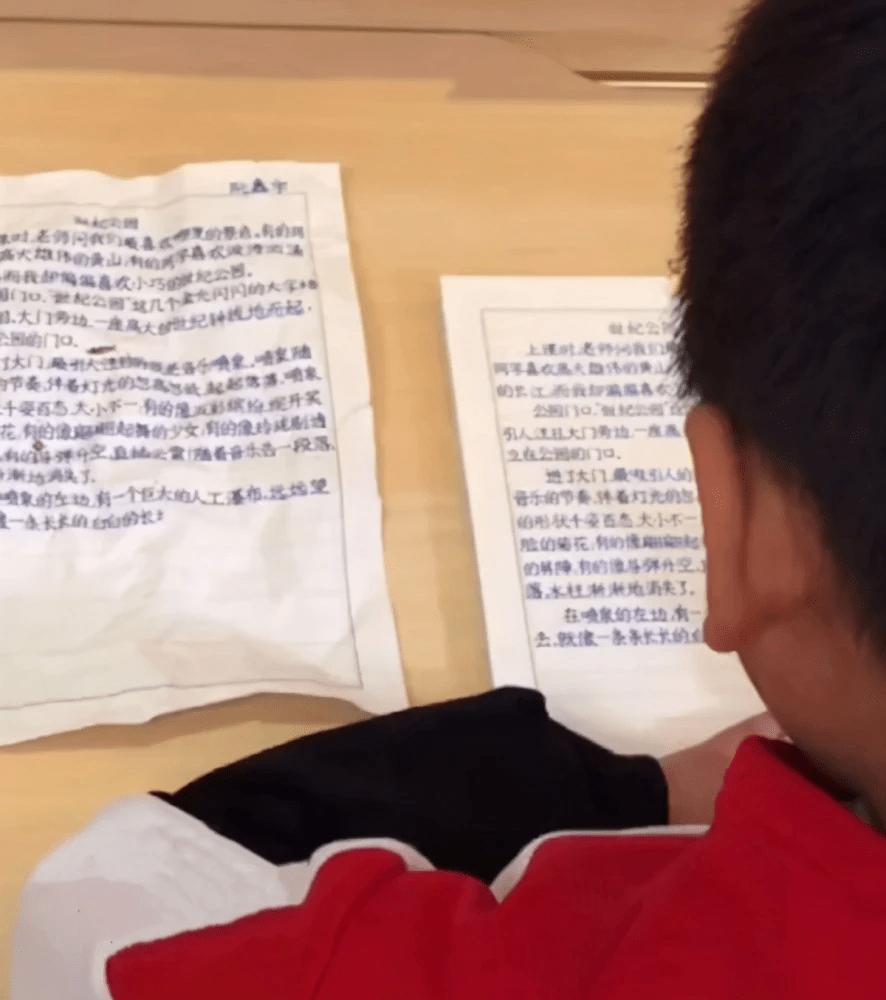 原来的马宝晒三年级儿子的作业,竟然在网上红了。网友:字迹堪比印刷体