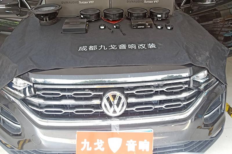 大众的原始车顶配备了达纳-大众谭跃改装汽车音响达纳大众定制版V17