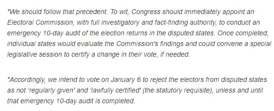最初的11名共和党参议员宣布或拒绝证明选举结果