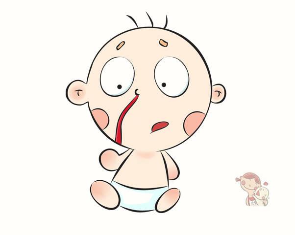 原配宝宝总是流鼻血吗?父母不应该用老办法止血。低头比抬头更有效。