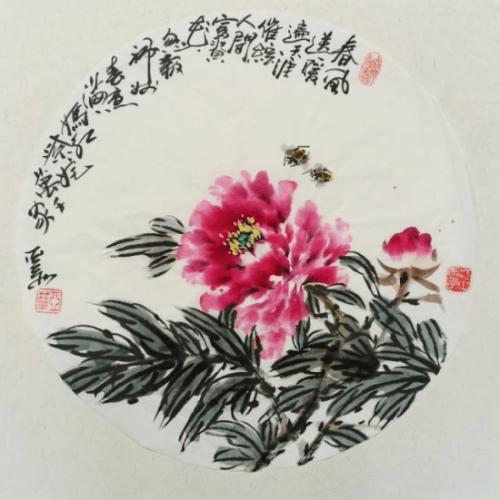 当代书画名家周亚华作品鉴赏:国色天香富贵吉祥