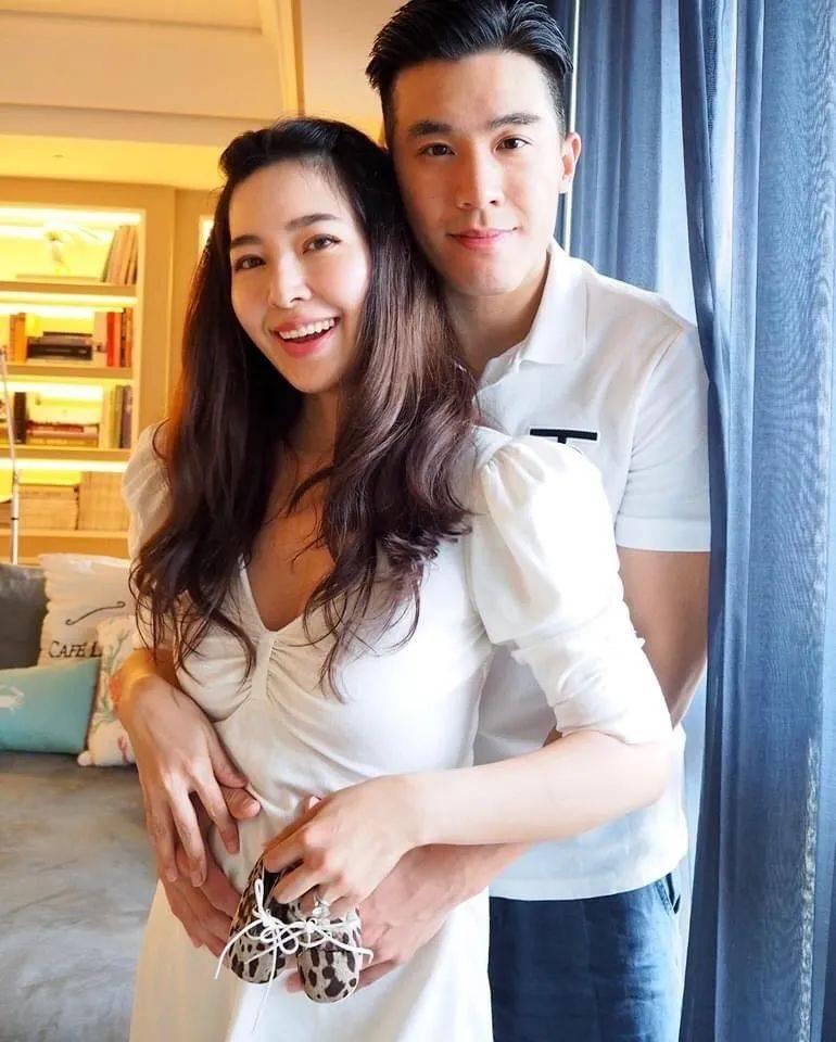 40亿台湾名媛廖晓乔挺大肚上杂志封面,曾是不婚主义,自曝盼了六年才怀孕  第10张