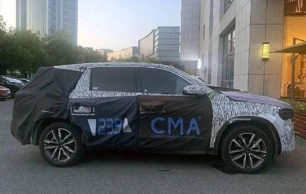 全新三联屏设计,基于CMA平台打造的吉利新旗舰KX11曝光