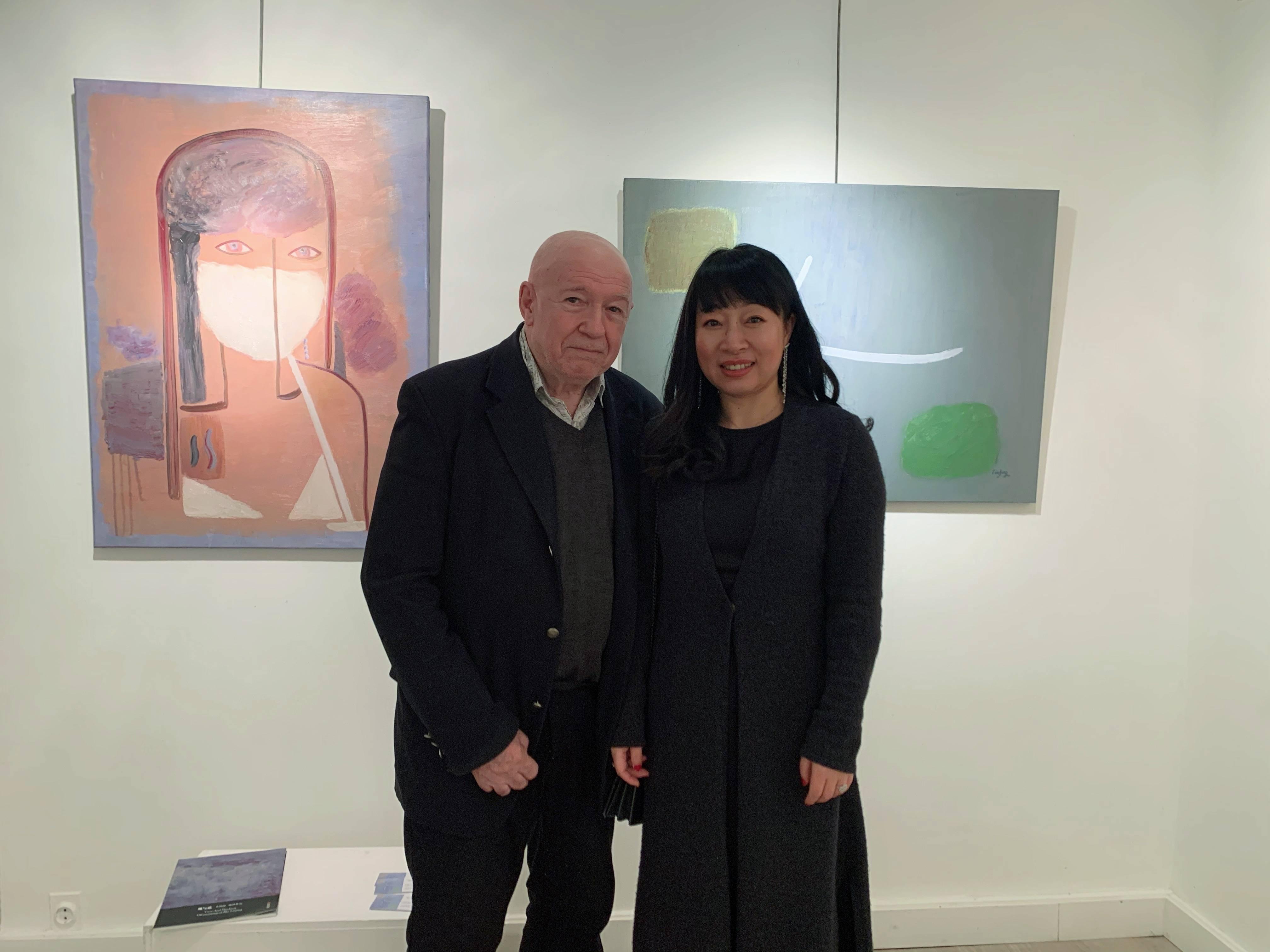 旅法艺术家朱林静作品入选法国当代国际艺术展