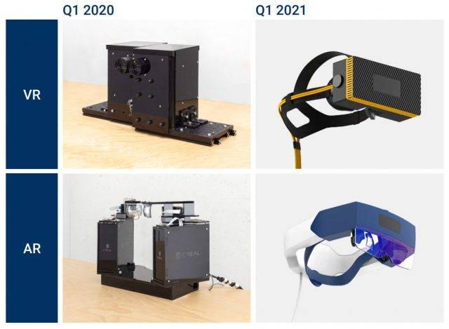 原创             CREAL展示小型化光场AR、光场VR头显