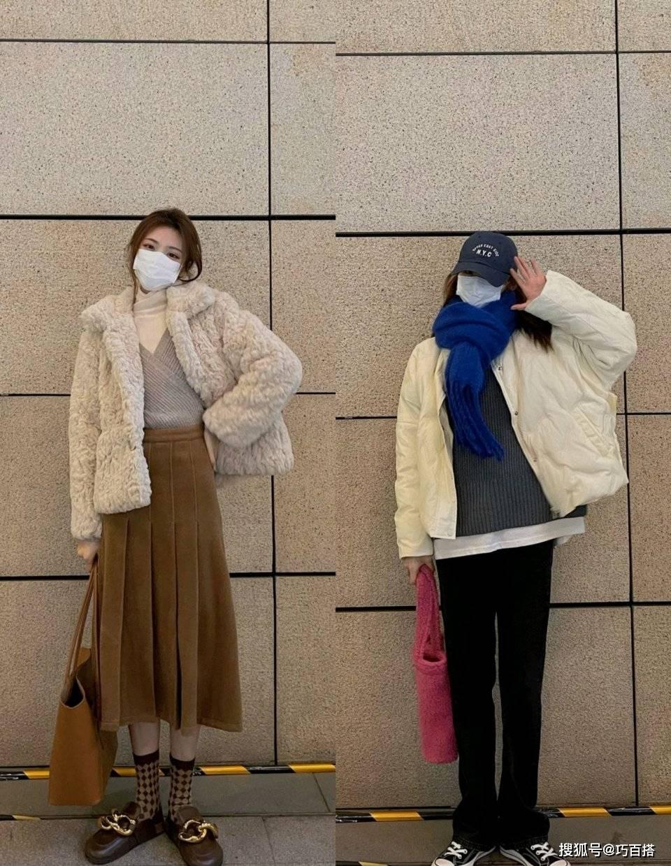 原创             娇小女生怎么穿?一整套都给你搭配好了,冬季直接复制气质还显高