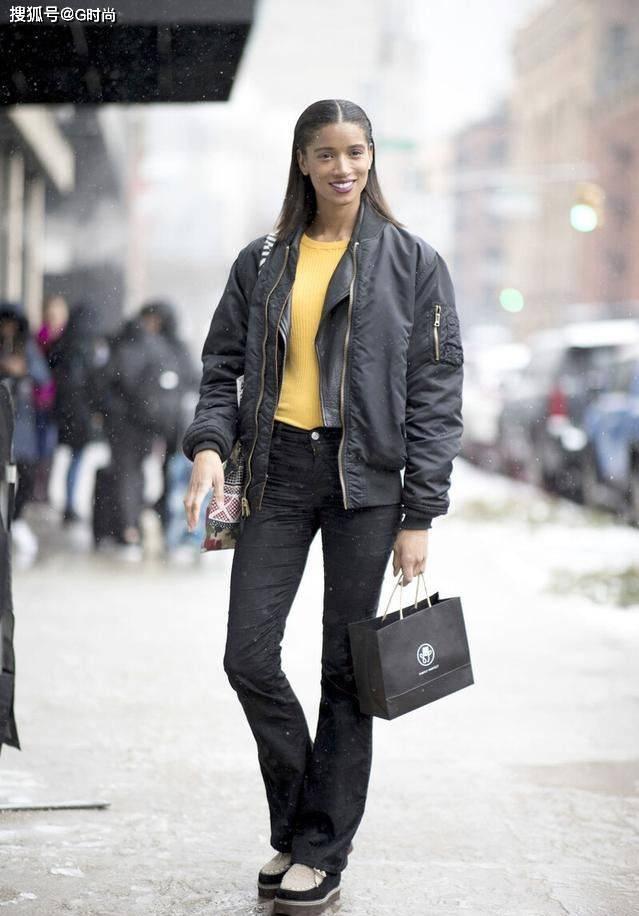 原创             潇洒率性的飞行夹克,保暖防风还很酷,时髦的小姐姐都爱