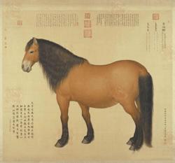 趣读古画:《十二汉字品马相》中国汉字之魅力