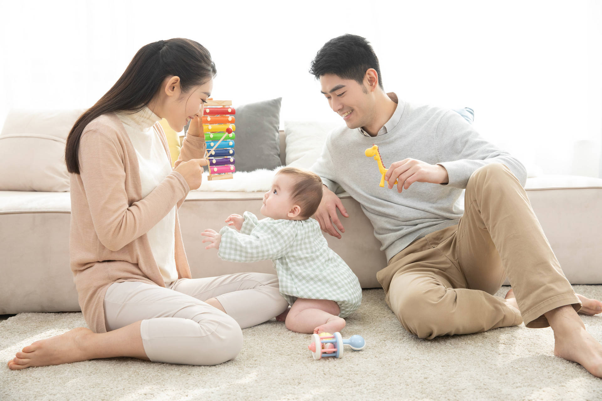"""五个月宝宝开始认生,经历多个""""第一次"""",妈妈用游戏促进娃成长  第7张"""