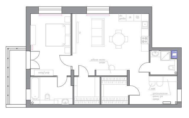 公寓建筑的平面图.